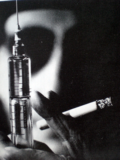 William S Burroughs with Needle from the film Chappaqua