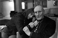 Patti Smith and William Burroughs, Photo by Allen Ginsberg