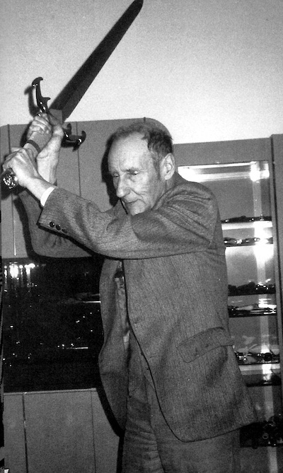 Victor Bockris, William Burroughs with Machete, photo owned by Chris Stein