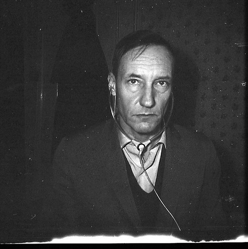 William S Burroughs with Headphones