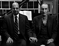Allen Ginsberg and William S. Burroughs, Photograph by Hank O'Neal