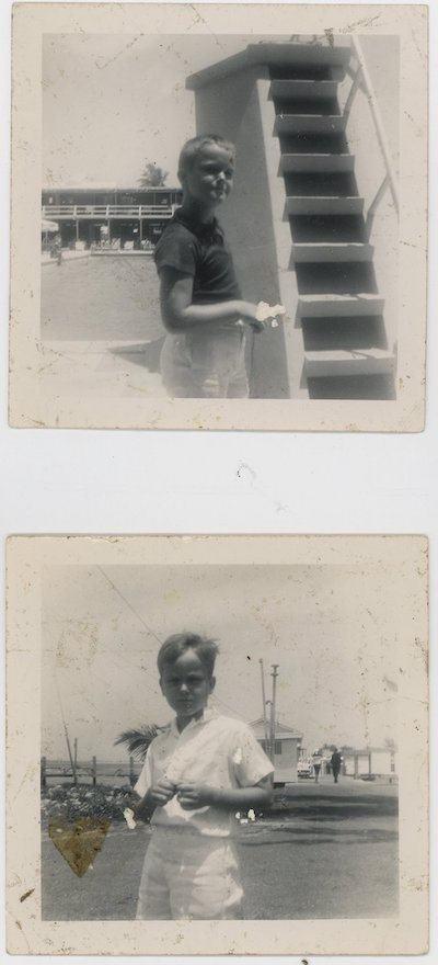 William S. Burroughs, photo of William (Billy) S. Burroughs Jr., Palm Springs. Ca. 1956. Silver gelatin prints.Unmounted.