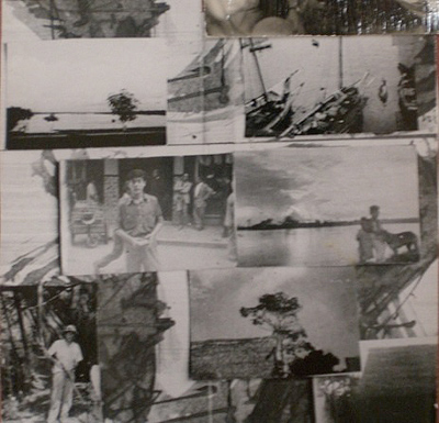 Collage of South America photographs by William S. Burroughs
