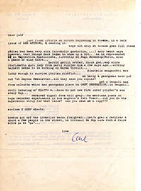 Letter, Carl Weissner to Jeff Nuttall, 1 July 1966