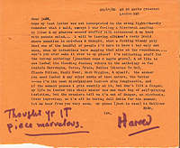 Harold Norse to Jeff Nuttall, 26 Apr 1968