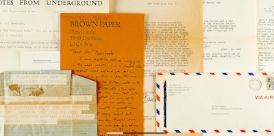 Correspondence from small press editors to William Burroughs, from June 2019 auction at Bonham's