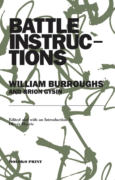 William S. Burroughs, BATTLE INSTRUCTIONS, Moloko, 2020, front