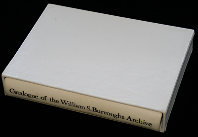 Barry Miles, Descriptive Catalogue of the William S. Burroughs Archive, photograph from Bradley Allen's Flick Stream