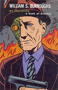 William Burroughs, My Education, 1995, cover by Charles Burns