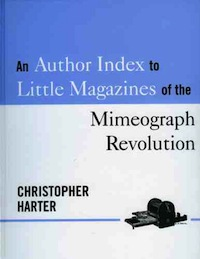 Christopher Harter, Author Index to Little Magazines of the Mimeograph Revolution