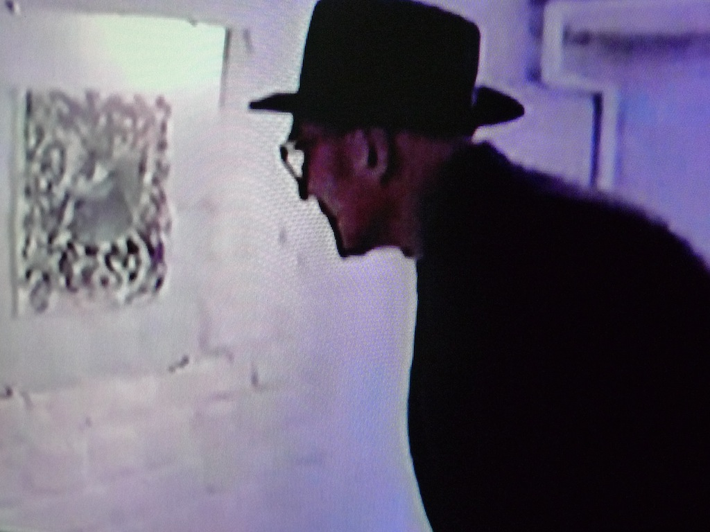 8ee0e935cfa Excerpt from 1990 film by Alfred 23 Harth showing Burroughs looking at his  own work ""