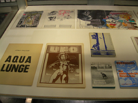 Vitrine with expanded media editions