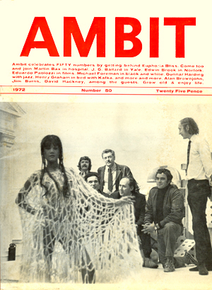 Ambit 50. Cover photograph includes J.G. Ballard (seated, center).