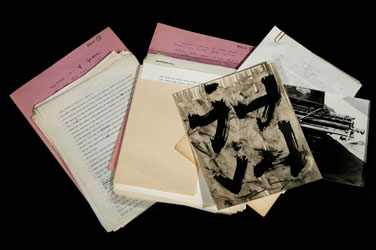 Items from the Burroughs Archive at the New York Public Library