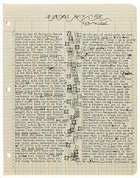 Manuscript page from The Third Mind, Bonham's Auction June 2019