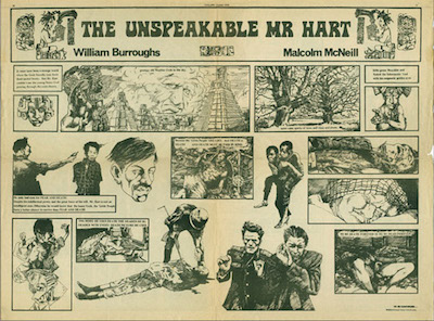 The Unspeakable Mr Hart, Collaboration by William Burroughs and Malcolm Mc Neill