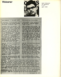 Intermedia 1969, Weissner Bio and Cut-Up