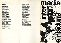 Intermedia 1969, Invitation