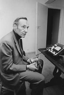 Charles Gatewood, William S. Burroughs with E-Meter