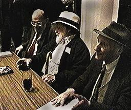 Allen Ginsberg, Charles Plymell, and William Burroughs, 1996