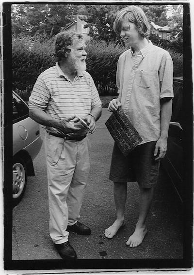 Charles Plymell with Thurston Moore. Photography by Gerard Malanga.