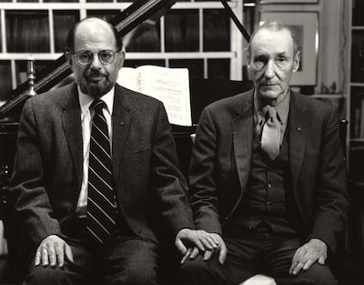 Hank O'Neal, Allen Ginsberg and William Burroughs Holding Hands