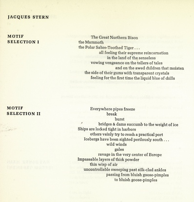 Jacques Stern, Motif I and Motif II