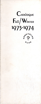 Fall-Winter Catalogue, Something Else Press 1973-1974