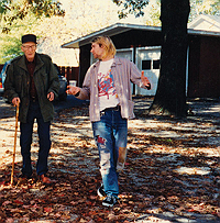 Kurt Cobain visiting William S. Burroughs' garden