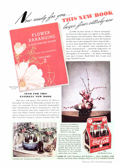 Ad for Laura Lee Burroughs' booklet in Good Housekeeping, February 1941