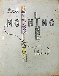 Ted Berrigan, The Morning Line, Am Here Books, 1982