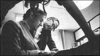 Richard Seaver (left) and Barney Rosset at Grove Press. Photo by Arcade Publishing