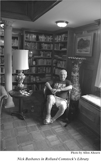 Nicholas Basbanes in Rolland Comstock's Library