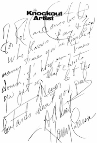 The Knockout Artist, inscribed to Rolland Comstock by Harry Crews