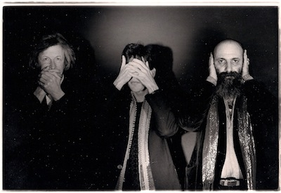 John Michell, Terry Wilson, and Ira Cohen (photo from the Wise Monkey Triptych by Ira Landgarten)