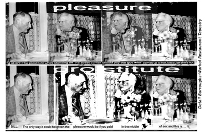 William Burroughs and Andy Warhol at Dinner, Collage by Victor Bockris and David Schmidlapp