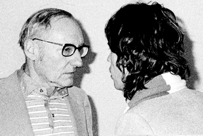 William Burroughs and Mick Jagger. Photograph by Victor Bockris