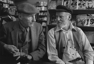 William Burroughs and Lawrence Ferlinghetti at City Lights (photo from ferlinghettifilm.com)