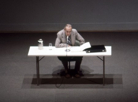 William Burroughs reading at the Walker Art Center in 1979