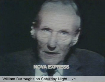 William Burroughs reading Nova Express on Saturday Night Live